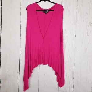Antthony Asymmetrical Stretchy Pink Top Size 3X